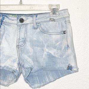 Fox Shorts - Fox Light Wash Cuff Hem Denim Shorts